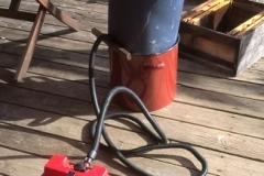 Dampfwachserzeuger angeschlossen